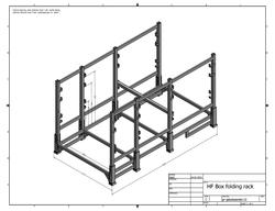 Box foldin rack